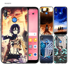 Silicone Case Cover for Huawei P20 P10 P9 P8 Lite Pro 2017 P Smart+ 2019 Nova 3i 3E Phone Cases Attack on Titan Mikasa Anime стоимость