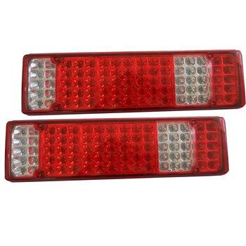 1Pair Car LED Rear Tail Lights Stop Brake Lamp for 12V 24V Truck Trailer Caravan Ute