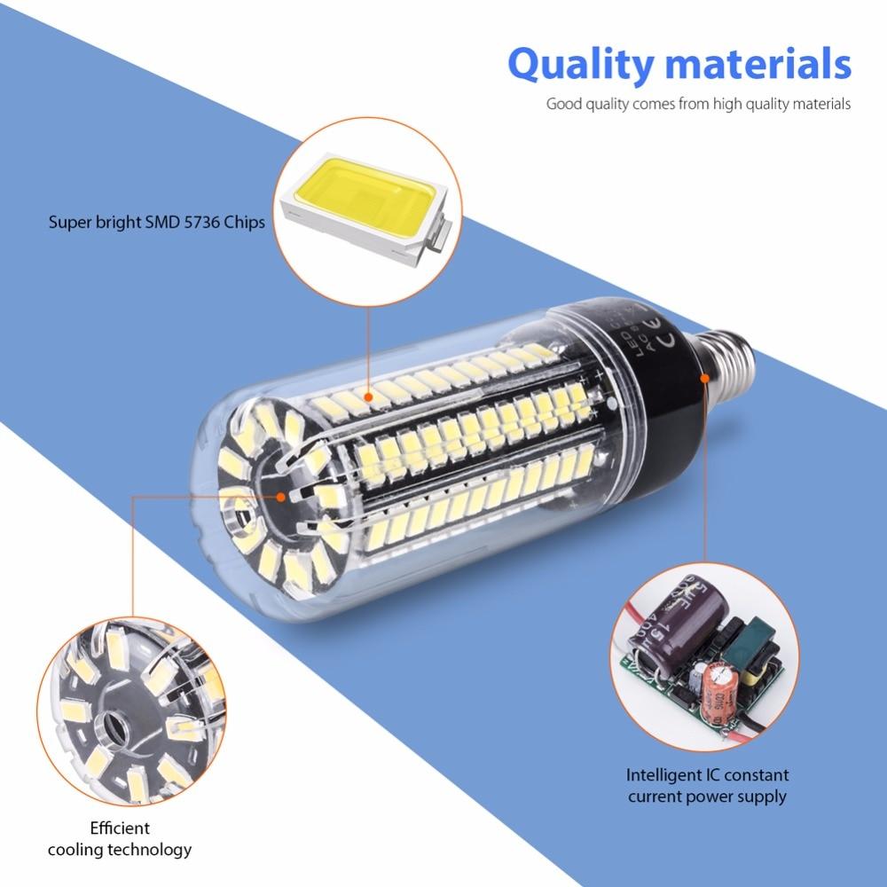 LED Corn Bulb E27 360 Degrees Pendant Light Source E14 3 5W 5W 7W 9W 12W 15W 20W 5736 SMD Energy Saving Lamp AC85 265V No Flicke in LED Bulbs Tubes from Lights Lighting