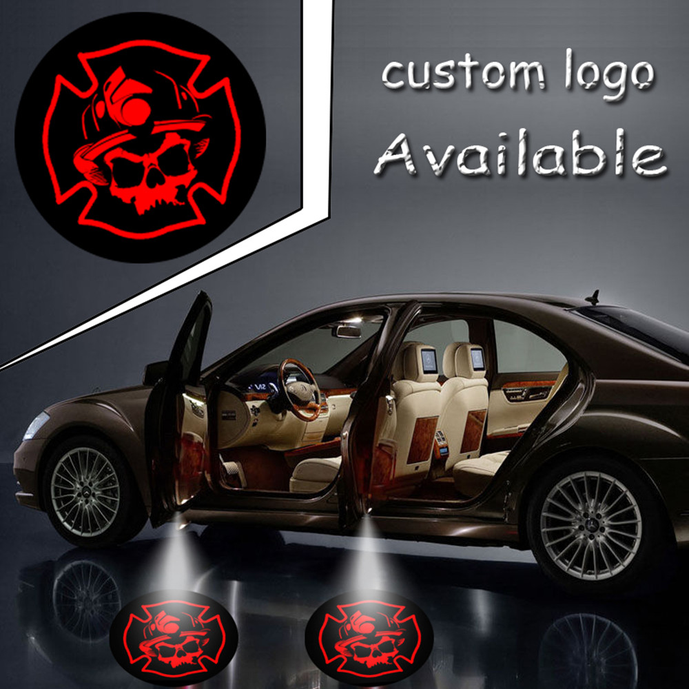2sets Projector Laser LED Auto Door Welcome Step Ghost Shadow Red Skull Logo Light Puddle Projector Laser Lmap #4531*4 2pcs projector laser auto open door welcome step logo led lights for ford blue mustang 50 years 5139