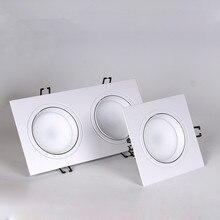 1 шт. квадратный Диммируемый светодиодный светильник cob Потолочный Точечный светильник 5 Вт 7 Вт 10 Вт 20 Вт ac85-265V потолочный встраиваемый светильник s Внутреннее освещение