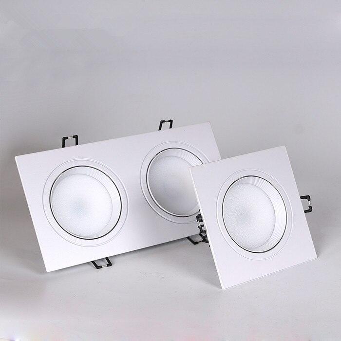 1 pcs Regulável quadrado Levou downlight luz de Teto cob Spot Light 20 10 7 5 w w w w ac85-265V recesso Luzes de teto Iluminação Interior