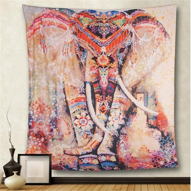 Бохо мандала гобелен настенный гобелен колдовство настенный гобелен из ткани слон искусство психоделический хиппи гобелен макраме Настен...