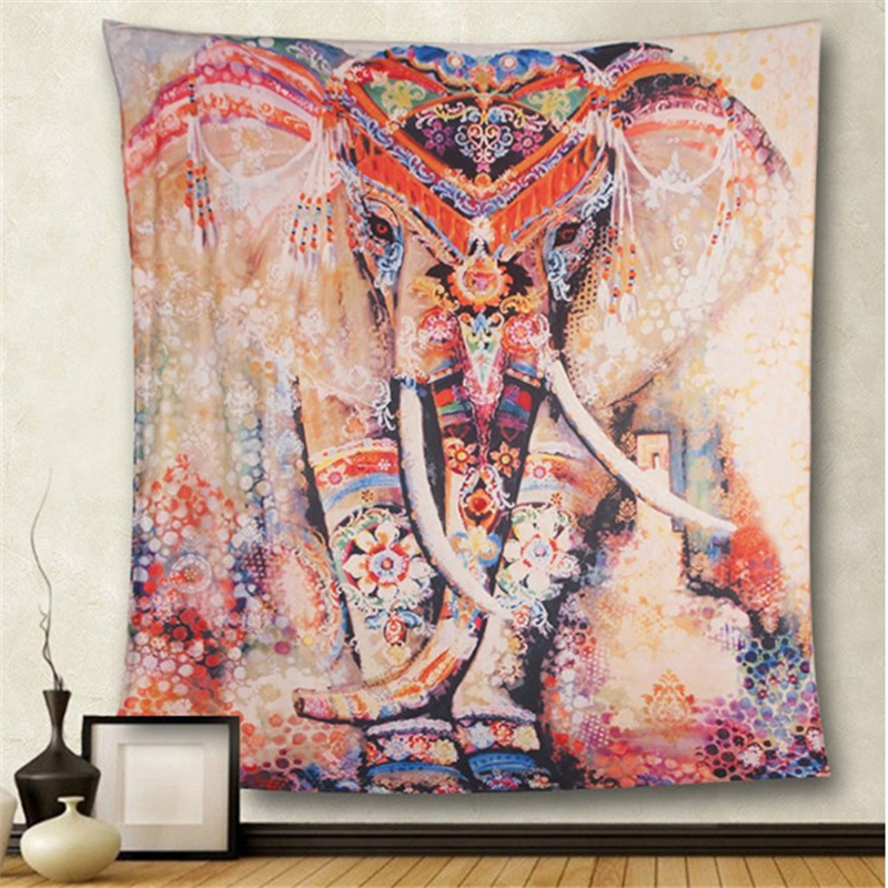 Boho Mandala Tapestry Wall Hanging Witchcraft Wall Cloth Tapestries Elephant Art Psychedelic Hippie Tapestry Macrame Wall Carpet