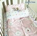 Do Bebê Do algodão Colcha de cama tampa fronha folhas de Três peças terno do bebê conjunto de Cama incluem colcha folha fronha plat recém-nascidos