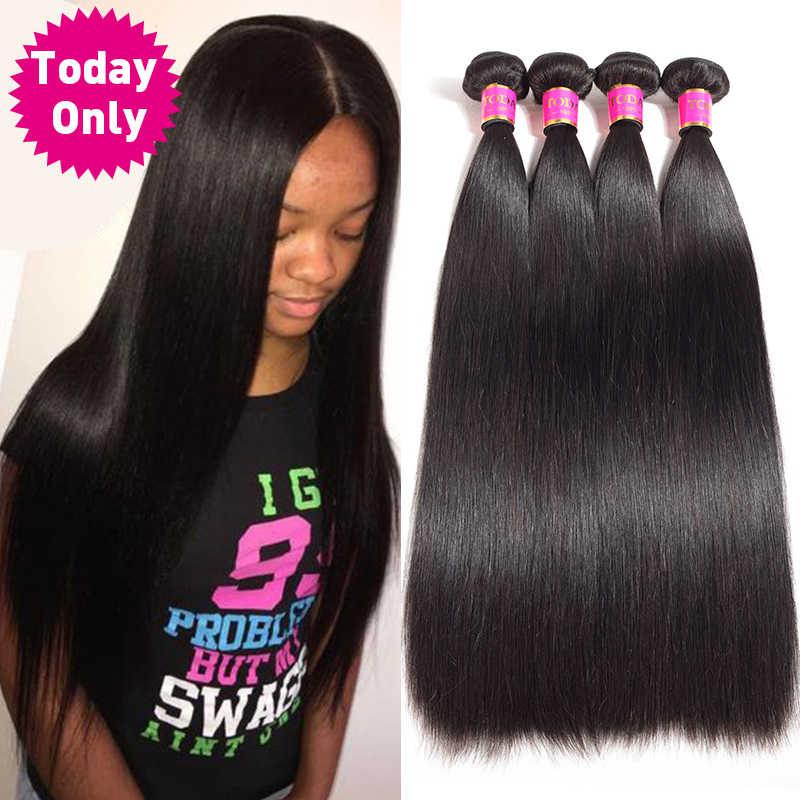 На сегодняшний день только 1/3/4 Связки перуанский прямые волосы в пучках, необработанные человеческие волосы девственницы пучки перуанские волосы пучки волос
