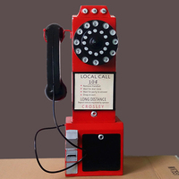 American country retro telephone booth decoration Iron Bar Cafe clothing store Club studio display props