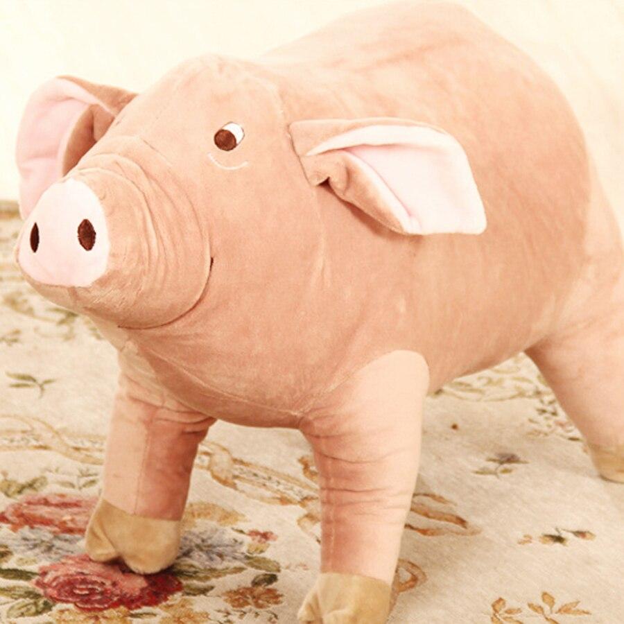 60 cm lindo suave peluche juguete granja de animales cerdo rosa de ...