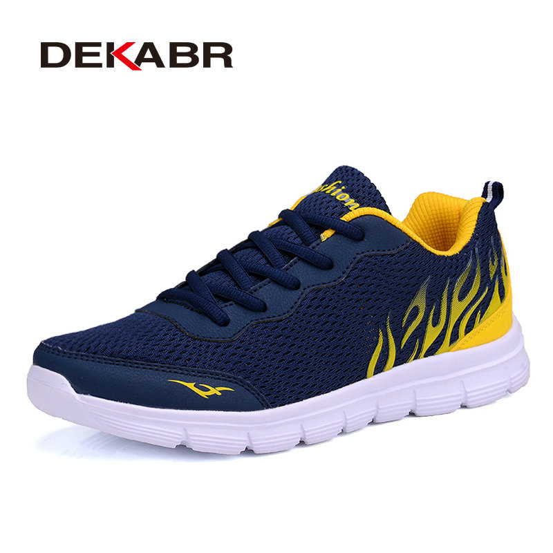 DEKABR Brand 2018 Summer Shoes New Arrivals Lace-Up Casual Shoes Mesh Breathable Light Weight Male Soft Men Shoes Big Size 38-45 pinsen fashion women shoes summer breathable lace up casual shoes big size 35 42 light comfort light weight air mesh women flats