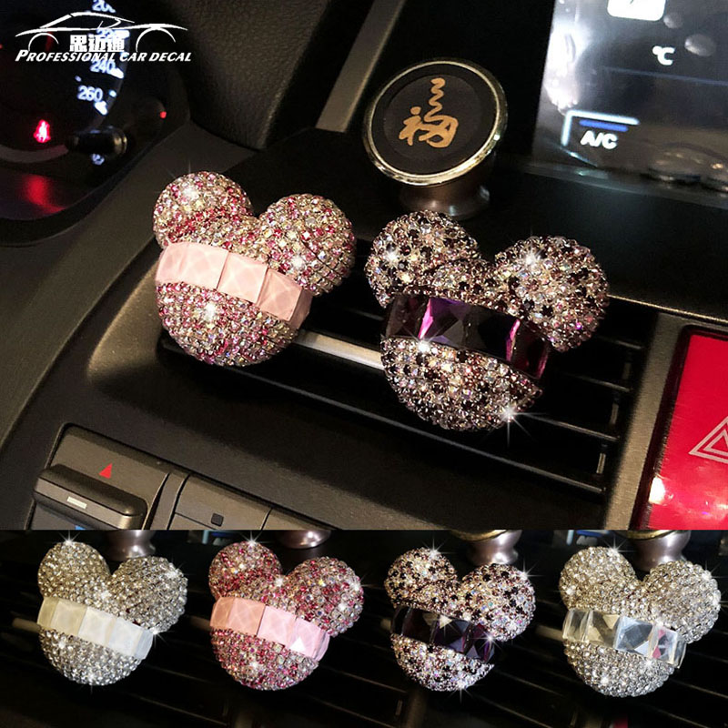 Car styling Bling Car Air Freshener Crystal Car Perfumes 100 Original Women parfum flavoring in the car for ford lada bmw vw kia
