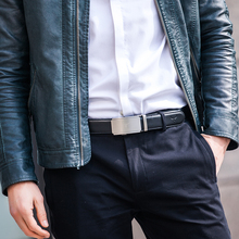 High Quality Automatic Buckle Genuine Leather Belt For Men