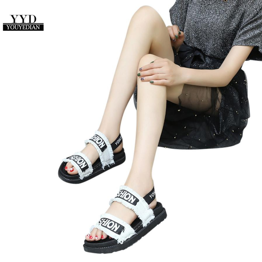 YOUYEDIAN (Ship from RU)Summer Gladiator Women Flat Fashion Shoes Casual Occasions Comfortable sandalias mujer 2018 #A30 2