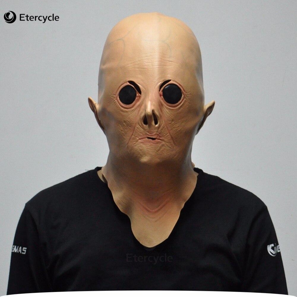 """Alien UFO ET Gummi Masken Film """"Extra Terrestrial"""" Cosplay Latex Requisiten Scary Halloween Party Maske für Kinder Spielzeug"""
