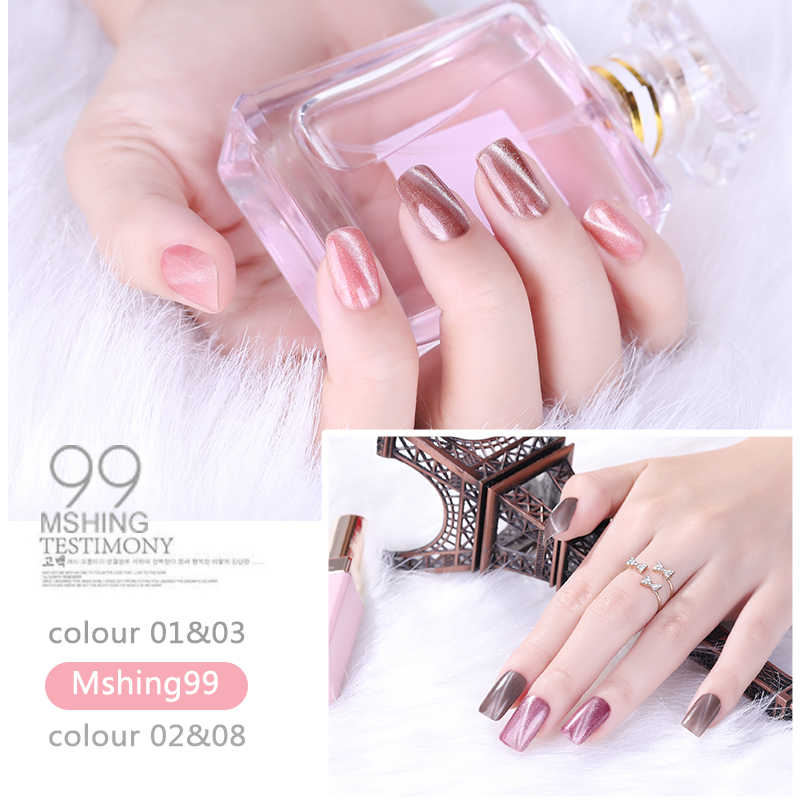 Magnet Cat Eye Gel Nail Polish 3D Efek UV Gel Nail polish Rendam off 36 Warna Chameleon Magnetic Gel Pernis manicure Lacquer
