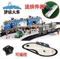Banbao 8228 juguetes de Control remoto tren de carga 1275 unids RC transporte Plastic modelo Building Block Sets Bricks educación de bricolaje juguetes