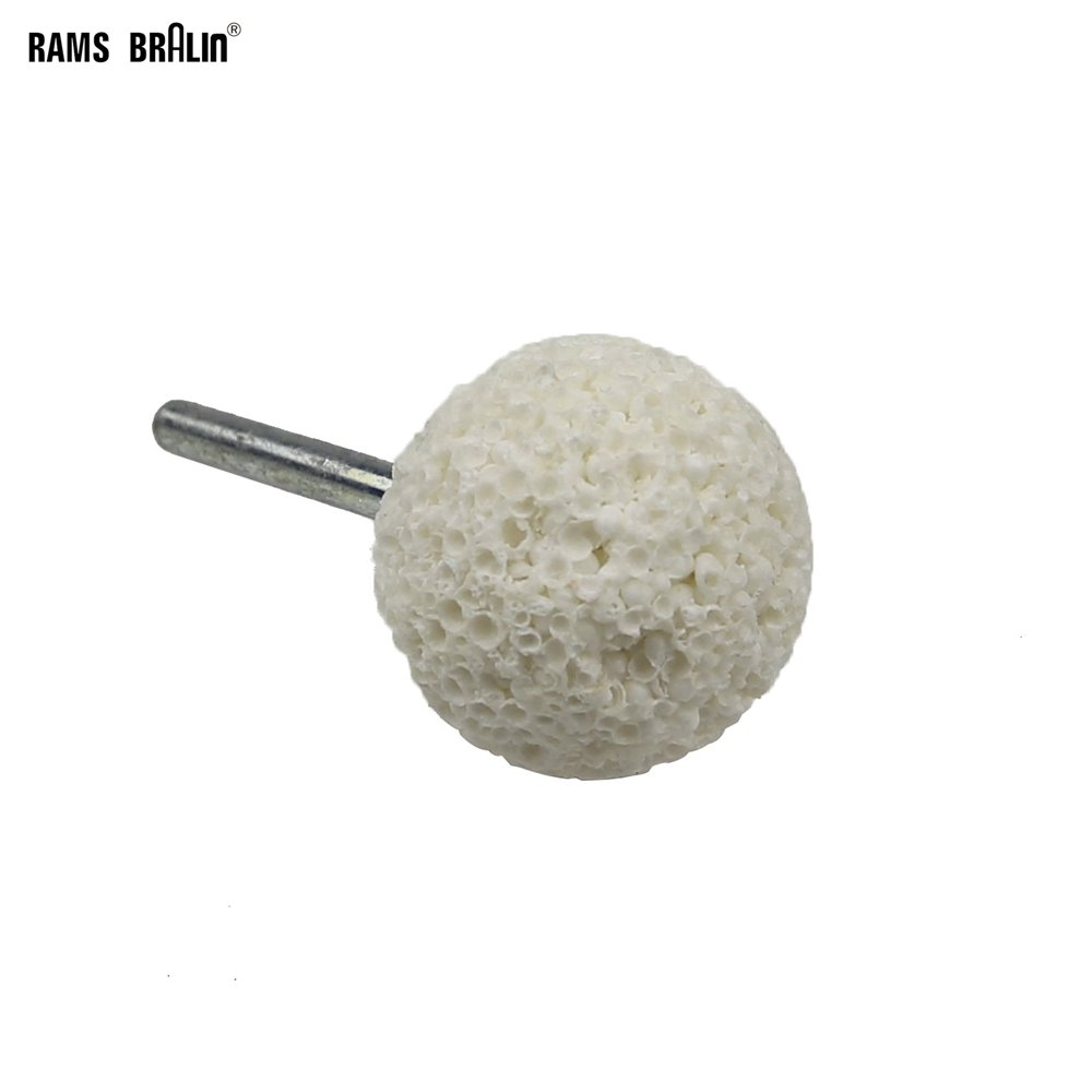 1 Piece Ball-shaped 40*6mm Mounted Grinding Head Point For Rubber Tyre Repairing Wood Deburring