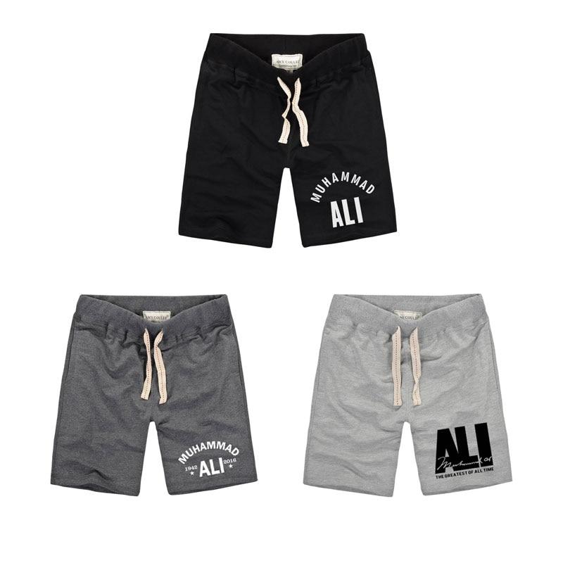 2018 Summer MUHAMMAD ALI Unique Men's Shorts Fitness Boxer Shorts Brand Clothing Shorts Vintage High Quality Cotton ufc Shorts