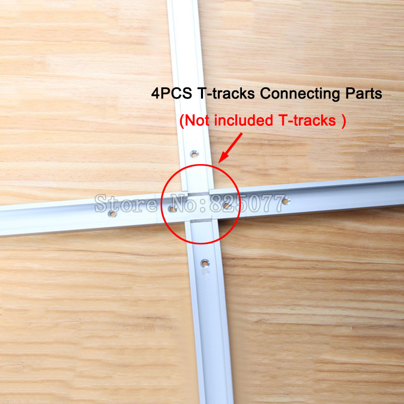 4PCS T-tracks T-slot Miter Track Jig Fixture Slot For Router Table Band Saw T-tracks Connecting parts Woodworking tools KF1025 metal band jig saw sweep saw small woodworking for beads wood cutting q10027