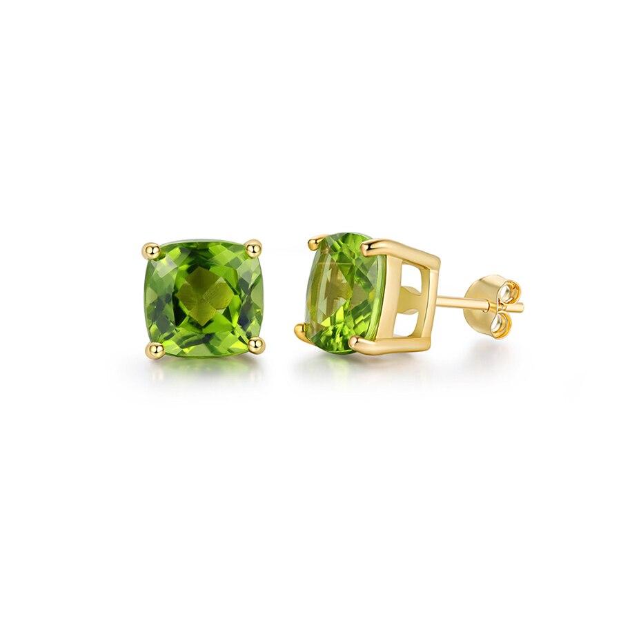 все цены на PJC Natural Gemstone Peridot Round Shape Chrome Diopside Fashion 925 Sterling Silver Stud Earrings онлайн