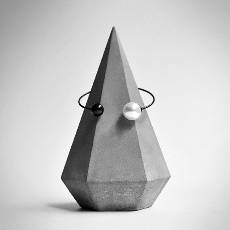 Moules à ciment cône en béton | Moules nordiques de bijoux originaux, moules en silicone de porte-anneau