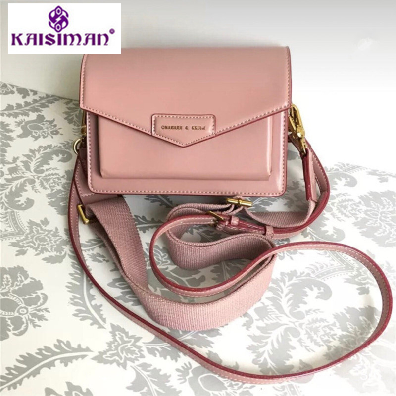 Singapore Tide Brand Leather Handbags Women Wide Strap Shoulder Bags Channel Messenger Bags Pink Two Shoulder Straps Sac A Main mxm fan meeting singapore