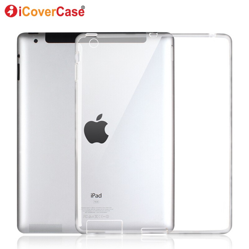 Protector Shell Case For Apple iPad 4 3 2 iPad4 Silicon Cases Cover Clear Color Soft Skin Tablets Pad Accessory Etui Coque Capa