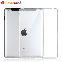 Protector Shell Case For Apple iPad 4 3 2 iPad4 Silicon Cases Cover Clear Color
