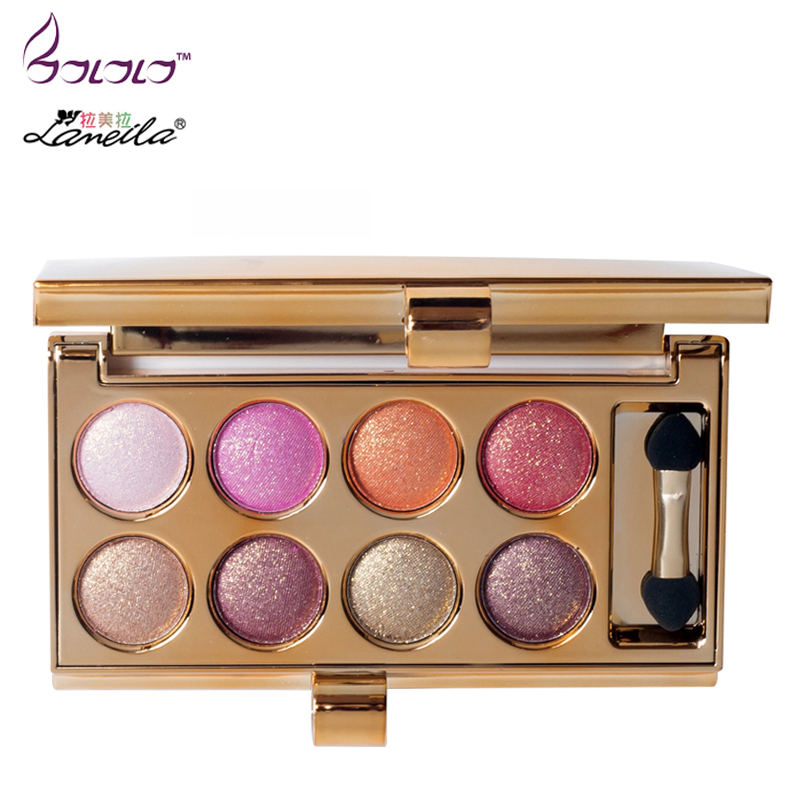 8 Colors Professional Eyes Makeup Pigment Eyeshadow Eye Shadow Palette Beauty Cosmetic Diamond Rainbow Make Up