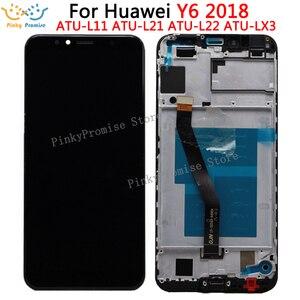 Image 1 - Huawei 社 Y6 2018 液晶ディスプレイタッチスクリーンデジタイザ Huawei 社 Y6 プライム 2018 液晶 ATU L11 L21 L22 LX1 LX3 l31 L42 画面とフレーム
