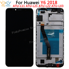 Huawei pantalla LCD táctil para móvil, digitalizador con marco para Huawei Y6 Prime 2018, ATU L11 L21 L22 LX1 LX3 L31 L42
