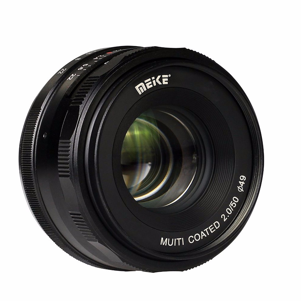 Meike MK-E-50-2.0 50mm f2.0 Large Aperture Manual Focus lens APS-C For Sony E Mount a6300 NEX7 35mm f 1 6 c mount lens for aps c sensor sony e nex 7 nex6 nex5t 5r 3 a5100 a6000 a5000 a3000 a6300 a6500
