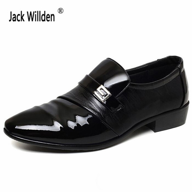 Jack Willden New Fashion Men S Leather Dress Office Shoes Man Wedding Business Flats Oxfords Mens Casual