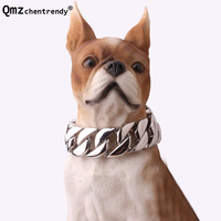23mm/30mm Width Heavy bulldog Dog Collar Durable Outdoor Chain Stainless Steel Pet Dog Chain Training Collar Choker Necklaces