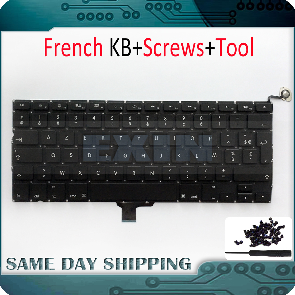 10Pcs Lot Brand New A1278 French Keyboard for Macbook Pro Unibody A1278 FR French Keyboard Screws