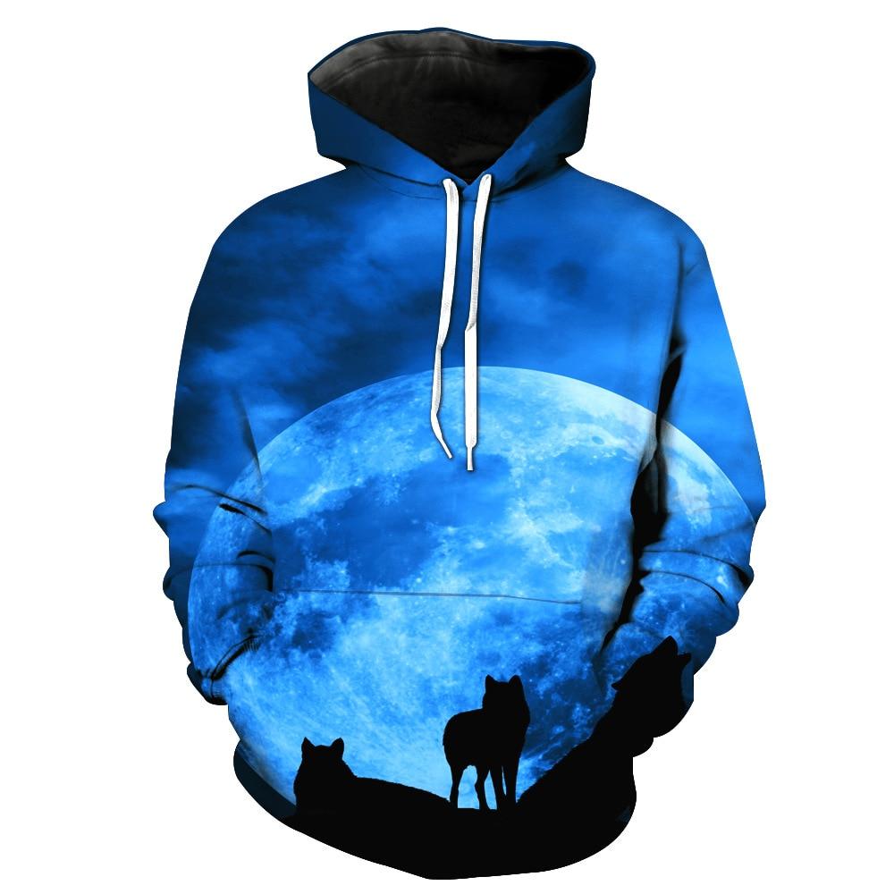 Galaxy Wolf Printing 3D Hoodies Men/Women Hoodies Hot-Sale Unisex Sweathsirts Autumn Pullover Fashion Sweatshirts Unisex Hoodies