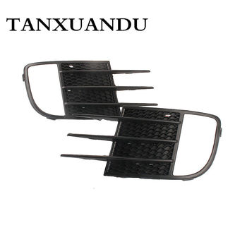 Pair Front Bumper Lower Side Face Foglight Lamp Grille Grill For VW Golf GTI MK6 grille