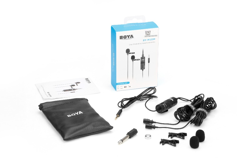 BOYA BY M1DM Lav Lavalier microfone Omnidirectional Condenser Microphone 3 5mm Mic for Canon for iPhone