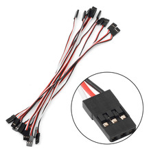Hot 10Pcs 20cm Male to Male Quadcopter Futaba Servo Extension Lead JR Wire Cable New