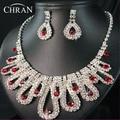 2016 Elegant Austrian Crystal Silver Plated Bridal Accessories Jewelry Promotion Fashion Costume Rhinestone Wedding Jewelry Sets