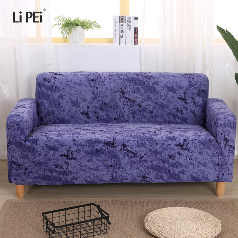Inkjet Pattern Elastic Stretch Universal Sofa Covers Sectional Throw Couch Corner Cover Cases for Furniture Armchairs Home Decor