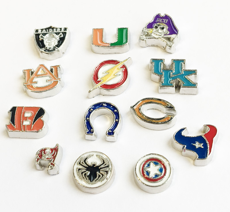Free Shipping, 10pcs Enamel Floating Charms Fit For Lockets, Gifts