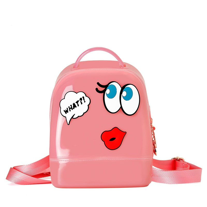 Hot High quality Candy Color Summer Jelly Backpacks Waterproof PVC School Bags Plastic Silicone Women Shoulder