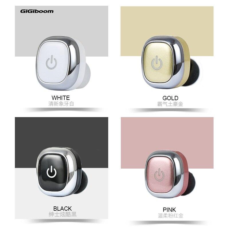 GiGiboom M1 Side in bluetooth earphone Wireless Stereo Mini Bluetooth headset Wireless bluetooth Headfree bluetooth earbud 2 in 1 wireless bluetooth earphone
