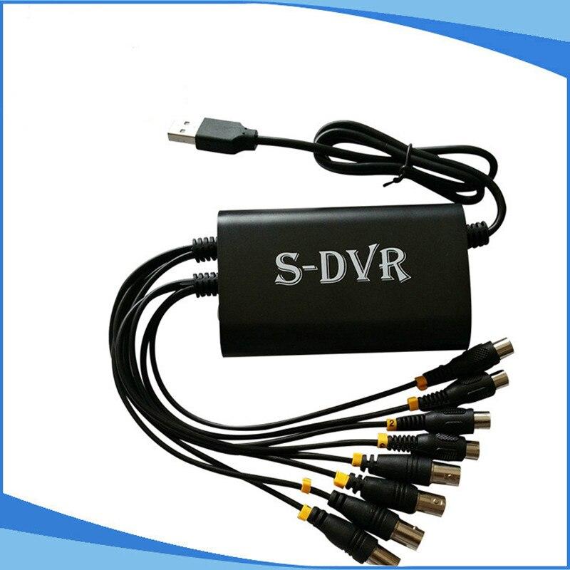 USB 2.0 4CH vidéo Audio Capture adaptateur 4 canaux CCTV DVR carte pour PC portable