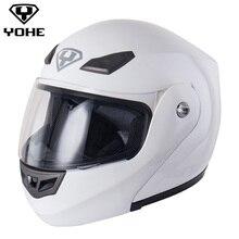2017 YOHE Шлем Новый Лучшие Продажи Сейф Отразить Вверх Мотоциклетный Шлем Все Доступные Мотокросс Шлем
