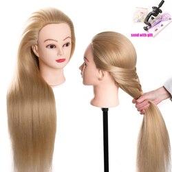 Cabeza de muñecas para peluches 80 cm pelo sintético peinados para cabeza de maniquí femenino peluquería estilismo cabeza de entrenamiento