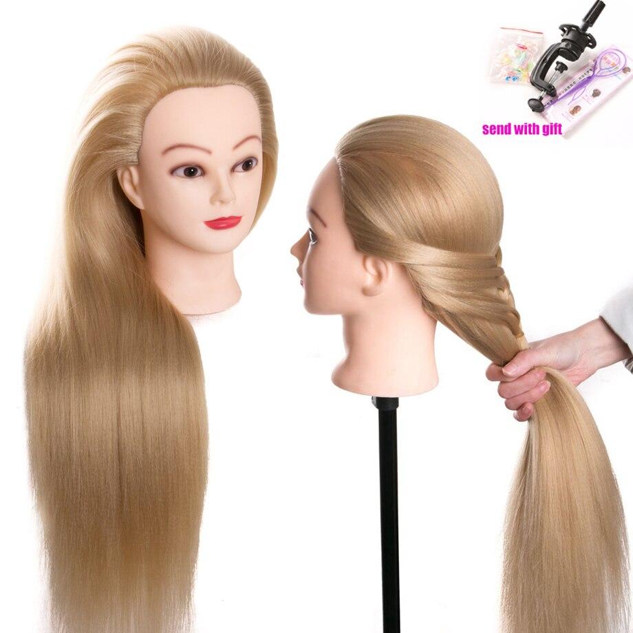 Kopf puppen für friseure 80 cm haar synthetische mannequin kopf frisuren Weibliche Mannequin Friseur Styling Ausbildung Kopf
