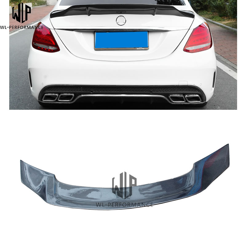 W205 Carbon Fiber Rear Spoiler Wing car body kit For Mercedes Benz C Class W205 2 Door car styling use 15 up Spoilers & Wings     - title=