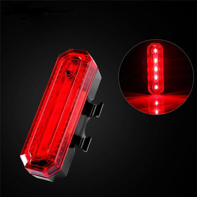 Bicycle Light LED Front Bicycle Bike Cycling Rear Tail Light Rechargeable USB 4 Modes bike Waterproof safety warn light #2g27 (7)