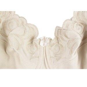 Image 5 - Kadınlar çizgisiz tam kapsama sütyen artı boyutu sütyen nakış yok yastıklı sütyen balenli Bralette iç çamaşırı 36 46C/D/DD/DDD/E/F/G